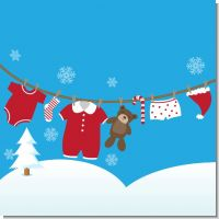 Clothesline Christmas Baby Shower Theme