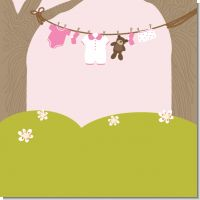 Clothesline It's A Girl Baby Shower Theme
