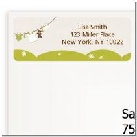 Clothesline It's A Baby - Baby Shower Return Address Labels