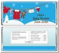 Clothesline Christmas - Personalized Baby Shower Candy Bar Wrappers