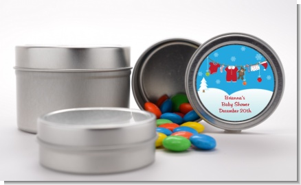 Clothesline Christmas - Custom Baby Shower Favor Tins