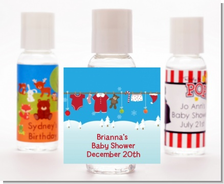 Clothesline Christmas - Personalized Christmas Hand Sanitizers Favors