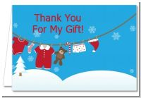 Clothesline Christmas - Baby Shower Thank You Cards