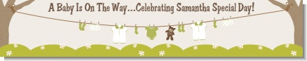 Clothesline It's A Baby - Personalized Baby Shower Banners