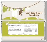 Clothesline It's A Baby - Personalized Baby Shower Candy Bar Wrappers