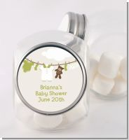 Clothesline It's A Baby - Personalized Baby Shower Candy Jar