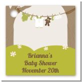 Clothesline It's A Baby - Personalized Baby Shower Card Stock Favor Tags