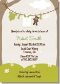 Clothesline It's A Baby - Baby Shower Invitations