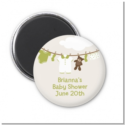 Clothesline It's A Baby - Personalized Baby Shower Magnet Favors