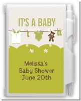 Clothesline It's A Baby - Baby Shower Personalized Notebook Favor