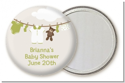 Clothesline It's A Baby - Personalized Baby Shower Pocket Mirror Favors