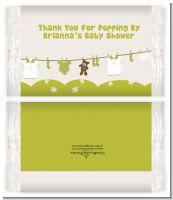 Clothesline It's A Baby - Personalized Popcorn Wrapper Baby Shower Favors