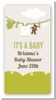 Clothesline It's A Baby - Custom Rectangle Baby Shower Sticker/Labels