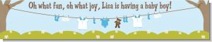 Clothesline It's A Boy - Personalized Baby Shower Banners