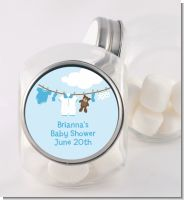 Clothesline It's A Boy - Personalized Baby Shower Candy Jar