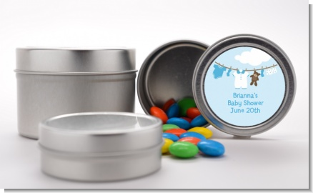Clothesline It's A Boy - Custom Baby Shower Favor Tins