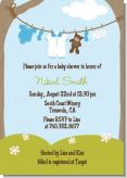 Clothesline It's A Boy - Baby Shower Invitations