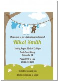 Clothesline It's A Boy - Baby Shower Petite Invitations
