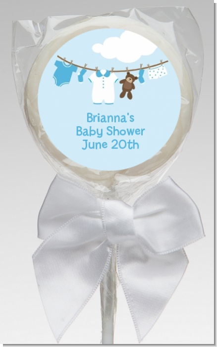 Clothesline It's A Boy - Personalized Baby Shower Lollipop Favors