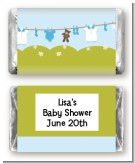 Clothesline It's A Boy - Personalized Baby Shower Mini Candy Bar Wrappers