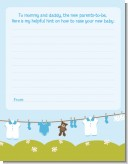 Clothesline It's A Boy - Baby Shower Notes of Advice