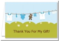Clothesline It's A Boy - Baby Shower Thank You Cards