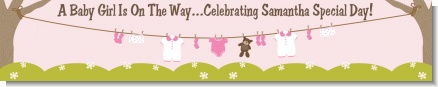 Clothesline It's A Girl - Personalized Baby Shower Banners