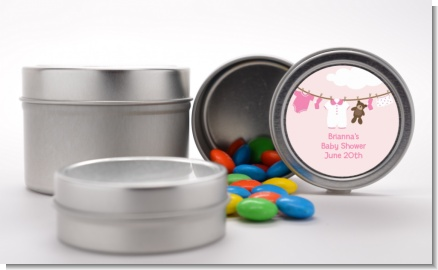 Clothesline It's A Girl - Custom Baby Shower Favor Tins