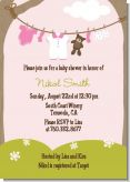 Clothesline It's A Girl - Baby Shower Invitations