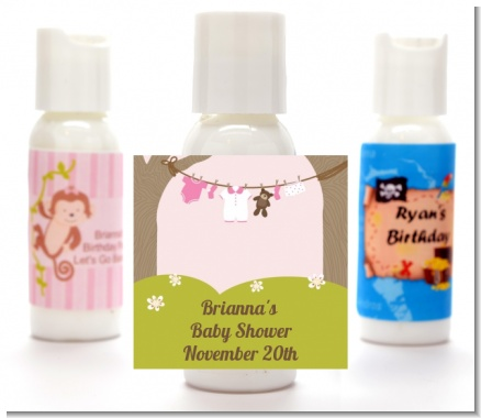 Clothesline It's A Girl - Personalized Baby Shower Lotion Favors