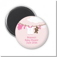 Clothesline It's A Girl - Personalized Baby Shower Magnet Favors