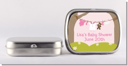 Clothesline It's A Girl - Personalized Baby Shower Mint Tins