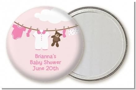 Clothesline It's A Girl - Personalized Baby Shower Pocket Mirror Favors