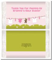 Clothesline It's A Girl - Personalized Popcorn Wrapper Baby Shower Favors