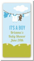 Clothesline It's A Boy - Custom Rectangle Baby Shower Sticker/Labels