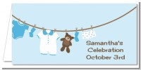Clothesline It's A Boy - Personalized Baby Shower Place Cards