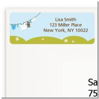 Clothesline It's A Boy - Baby Shower Return Address Labels