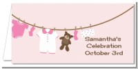 Clothesline It's A Girl - Personalized Baby Shower Place Cards