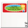 Circus Lion - Birthday Party Return Address Labels thumbnail