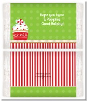 Cnristmas Cupcake - Personalized Popcorn Wrapper Christmas Favors