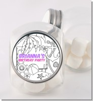 Color You Own - Beach Scene - Personalized Birthday Party Candy Jar