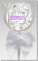 Color You Own - Beach Scene - Personalized Birthday Party Lollipop Favors