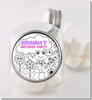 Color Your Own - Spring Garden - Personalized Birthday Party Candy Jar