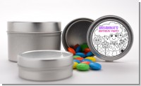 Color Your Own - Spring Garden - Custom Birthday Party Favor Tins