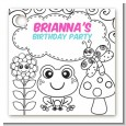 Color Your Own - Spring Garden - Personalized Birthday Party Card Stock Favor Tags thumbnail
