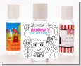 Color Your Own - Spring Garden - Personalized Birthday Party Hand Sanitizers Favors thumbnail