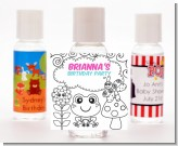 Color Your Own - Spring Garden - Personalized Birthday Party Hand Sanitizers Favors