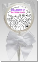 Color Your Own - Spring Garden - Personalized Birthday Party Lollipop Favors