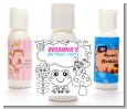 Color Your Own - Spring Garden - Personalized Birthday Party Lotion Favors thumbnail