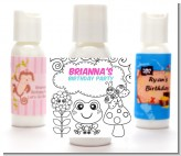 Color Your Own - Spring Garden - Personalized Birthday Party Lotion Favors